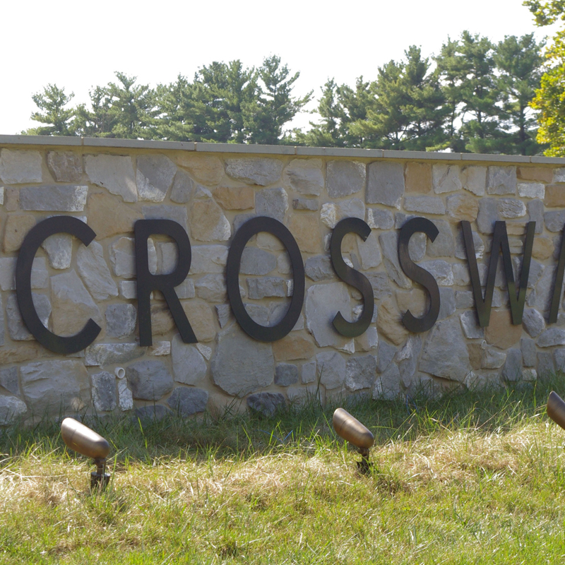 Crossway Church Sign