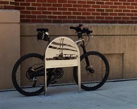 bike racks waterjet cut from 316 stainless steel
